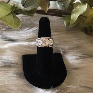 DIAMONIQUE®️ 3-STONE SIMULATED DIAMOND RING